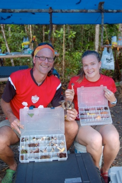 Dr. Terry Henkel and I compare the day's collections, Ayangannah Savannah, December 2011