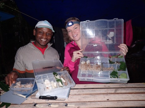Jay Blaise and I with a box of Clavulina species